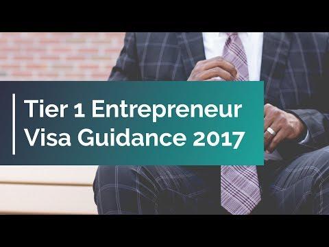 Tier 1 Entrepreneur Visa Guidance 2017