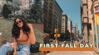 First FALL Vibe Day in NYC VLOG - Picnic Day Date! 🍂| Antonnette