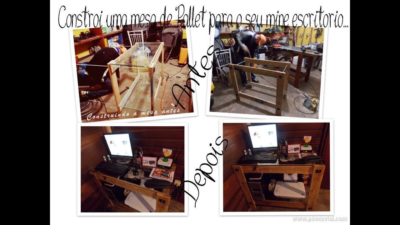 Fa a voc mesma uma mesa de pallet para o seu mini - Protector de mesa escritorio ...