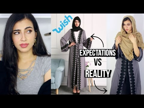 Trying on $11 Muslim Dresses / Arab Abayas I Bought on Wish
