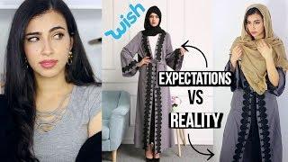 Trying on $11 Muslim Dresses / Arab Abayas I Bought on Wish