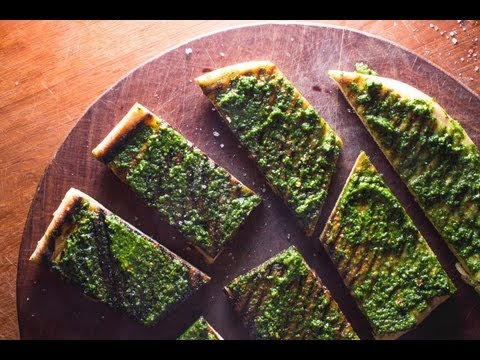 Grilled Chimichurri Flatbread