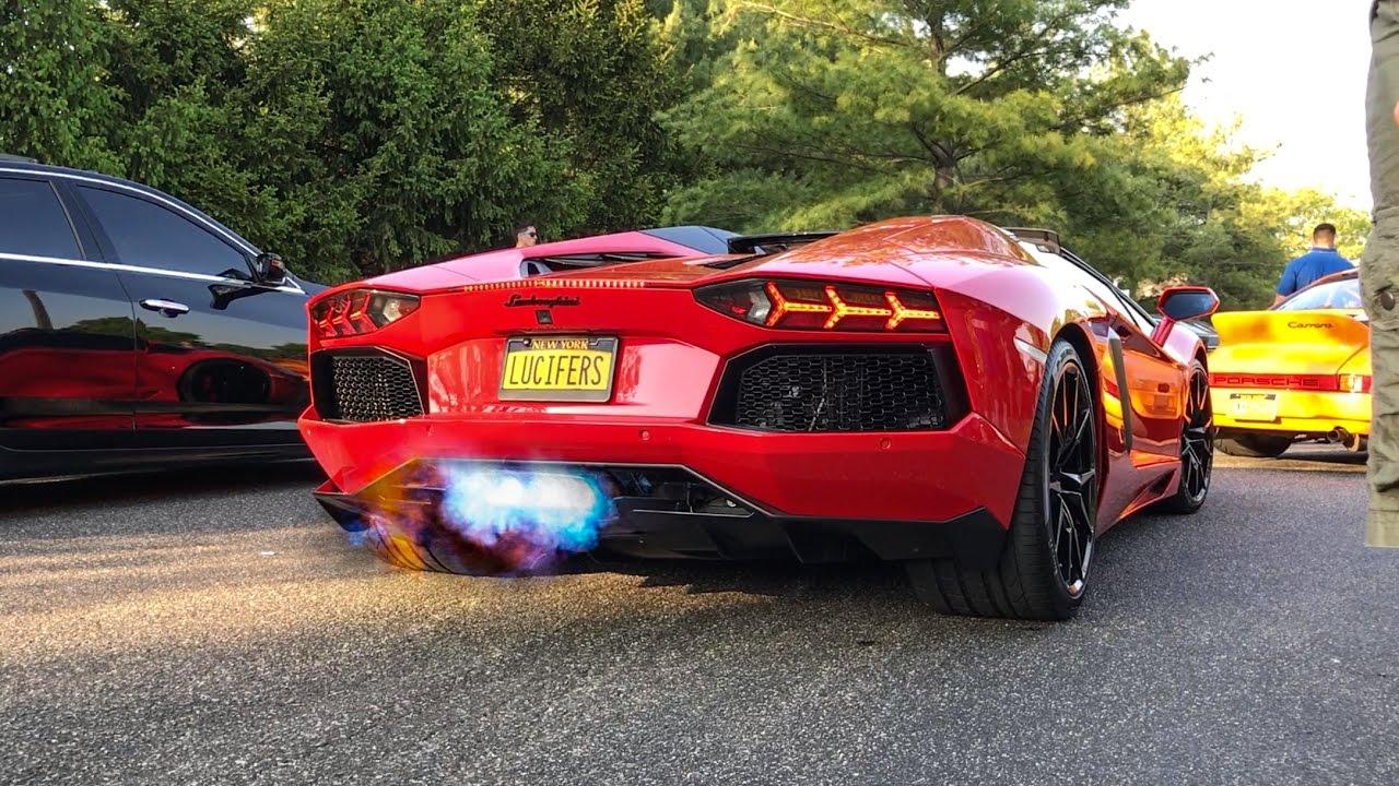 Delicieux Lamborghini Aventador Creating Chaos In Traffic!   Backfire