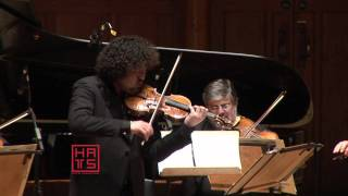 Fantastic Japanese violinist plays his own composition with a strin...
