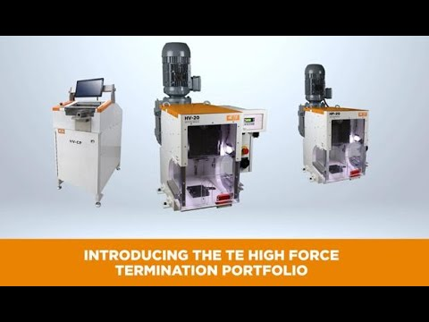 TE's Complete Lineup of High Voltage Crimping Solutions