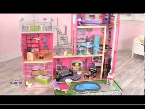 Kidkraft Luxury Uptown Mansion Dollhouse 35 Pc Of Furniture