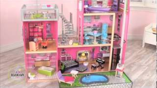 Kidkraft Luxury Uptown Mansion Dollhouse 35-pc Of Furniture...