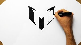 Drawing Messi Logo   Fan Art How to Draw