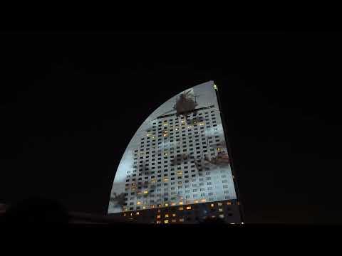 【高画質】FF 30周年×横浜 龍神バハムート、襲来 (Sony �)