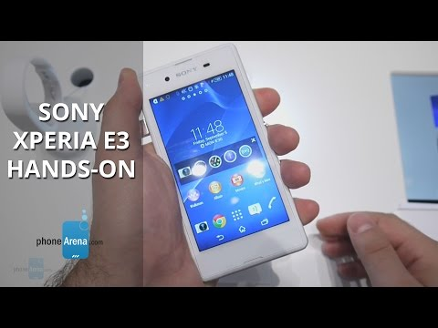 Sony Xperia E3 Hands-on