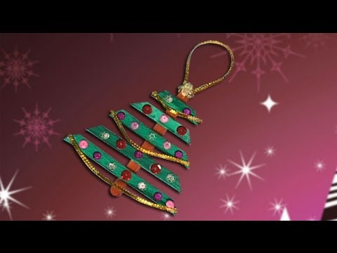 Nice christmas tree, crafts ideas for christmas decoration - YouTube