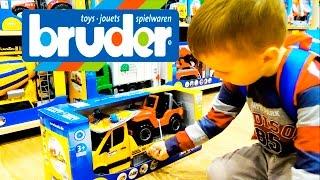 Игрушки для детей Мега магазин игрушек BRUDER Эвакуатор с джипом  покупка Bruder Toys. 2535