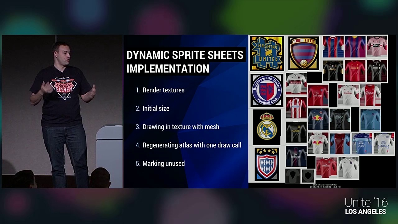 Unite 2016 - Building Sprite Sheets at Runtime (Top Eleven, Nordeus)