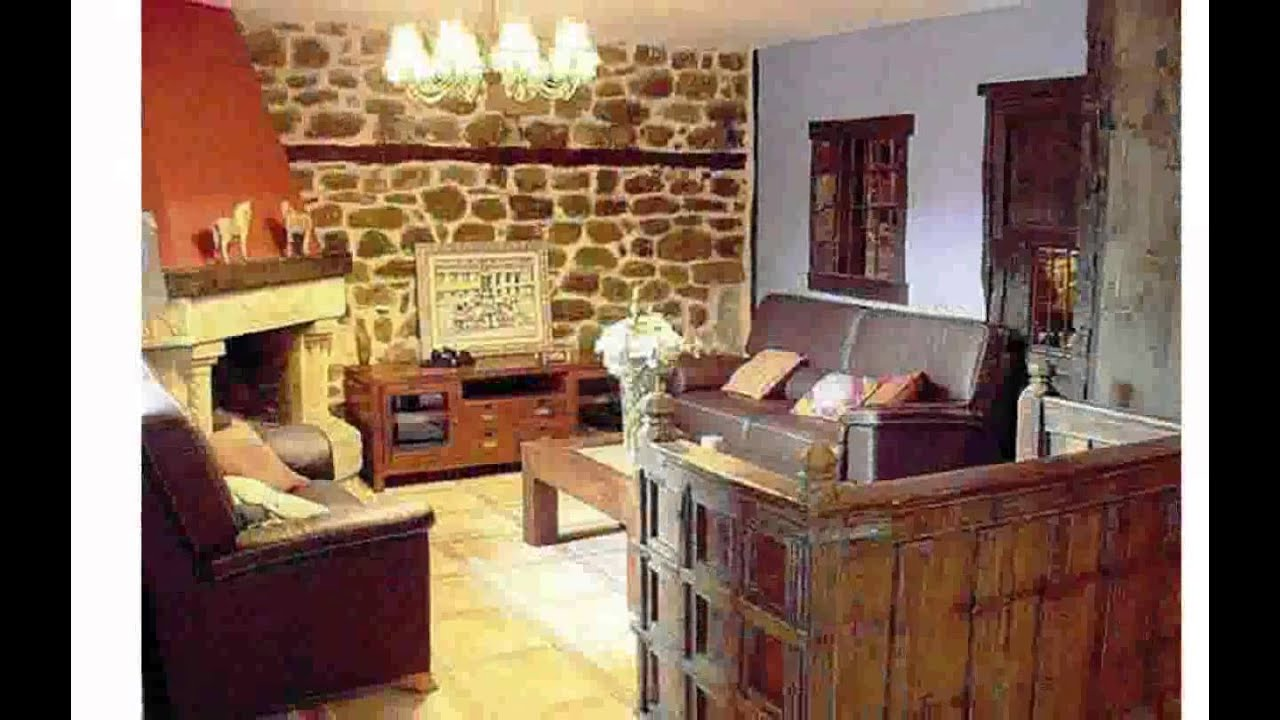 Fotos decoracion casas rusticas youtube for Imagenes de interiores de casas