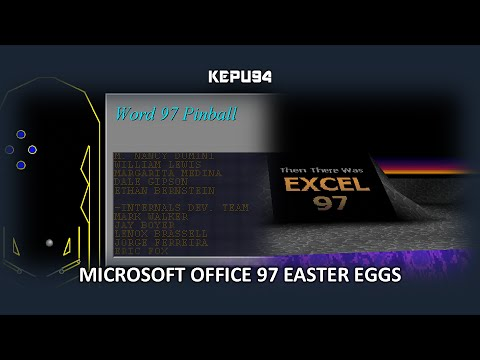 Microsoft Office 97 Easter Eggs (Word/Excel) - YouTube