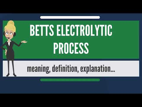 What is BETTS ELECTROLYTIC PROCESS? What does BETTS ELECTROLYTIC PROCESS mean?