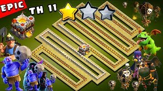 EPIC TH11 War Base 2018 Anti 2 Star With Replay Anti Bowler Anti Miner Anti Everything PROOF!