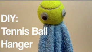 Diy: Tennis Ball Hanger