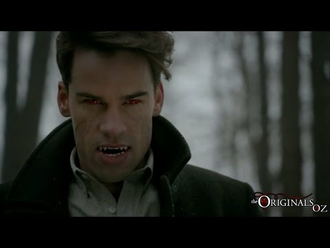 The Originals 3x17 Lucien Fights Elijah Finn (Finn gets Bitten)