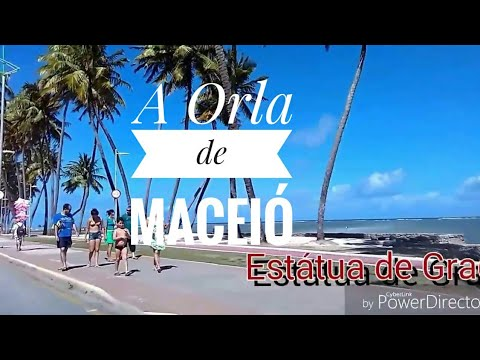 Orla de Maceió, a mais bonita do Brasil. Seafront of Maceió, the most beautiful in Brazil.