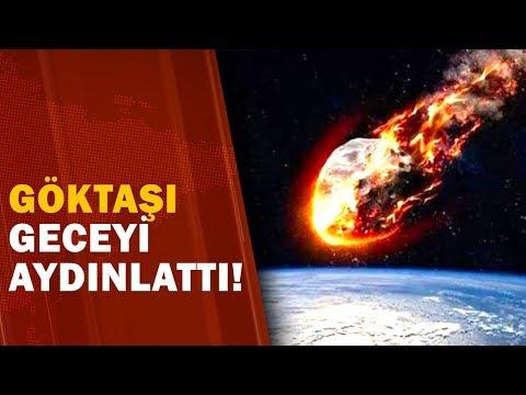 Türkiye'ye Göktaşı Düştü! Akıl Almaz Görüntüler! / A Haber