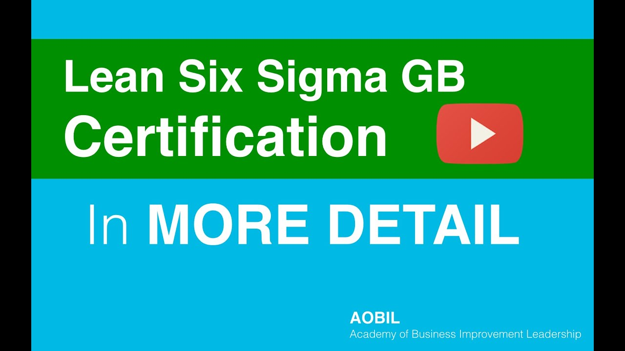 How to get certified as a lean six sigma green belt with aobil how to get certified as a lean six sigma green belt with aobil xflitez Choice Image