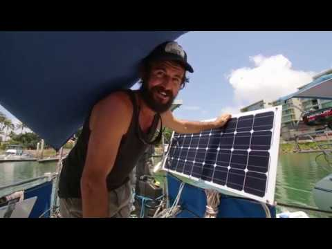 A Half Hour Of Solar Power: Our New Solar Installation - Free Range Sailing Ep 74