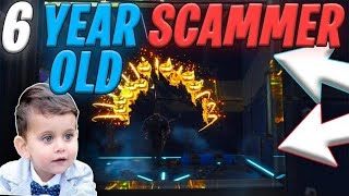 6 Year OLD Scammer EXPOSED! Scammed ME On 2 ACCOUNTS? (Scammer Gets Scammed) Fortnite Save The World