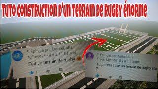 TUTO CONSTRUCTION D'UN TERRAIN DE RUGBY !!!