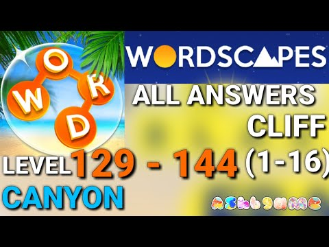 Wordscapes Daily Puzzle Level 129 144 Answers Youtube