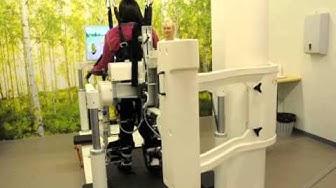 Kävelysimulaattori Tampereen kaupungin Hatanpään sairaalassa