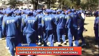 Ciudadanos realizaron minga de limpieza después del Paro Nacional