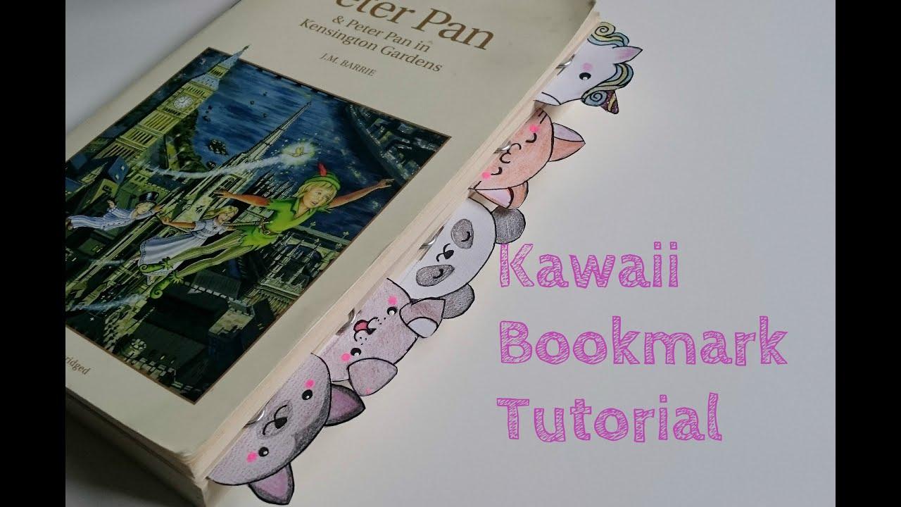 Diy Kawaii Bookmark Tutorial Youtube