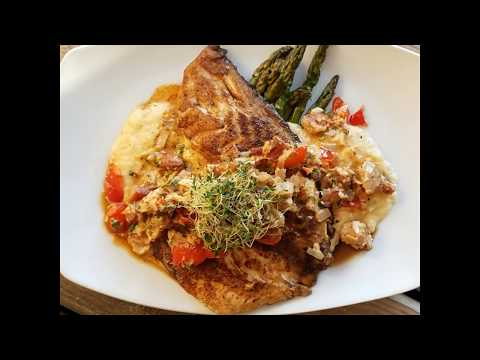 Blackened Red Fish  With Creamy Crab Sauce