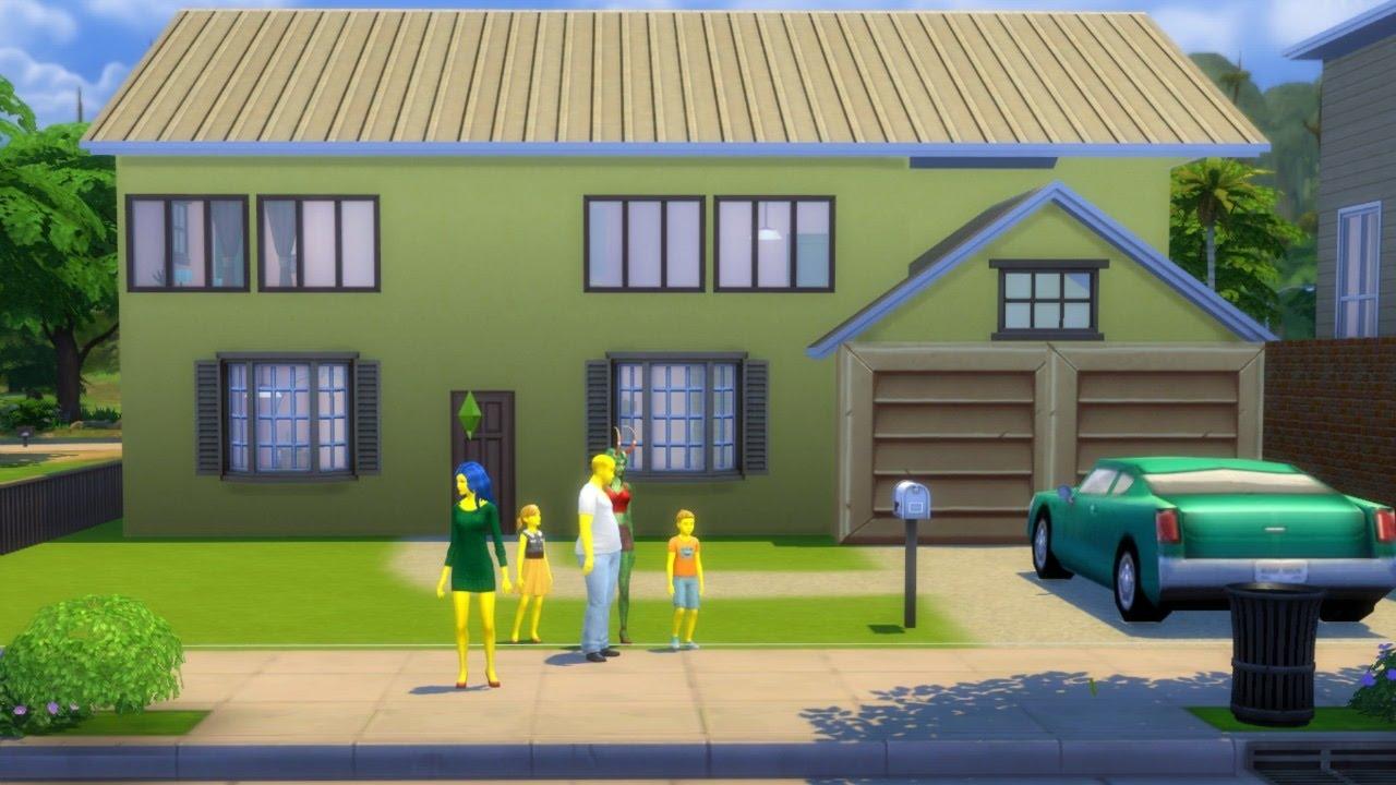 La famille simpsons et leur nouvelle maison sims 4 youtube for Maison prefabriquee sims 4