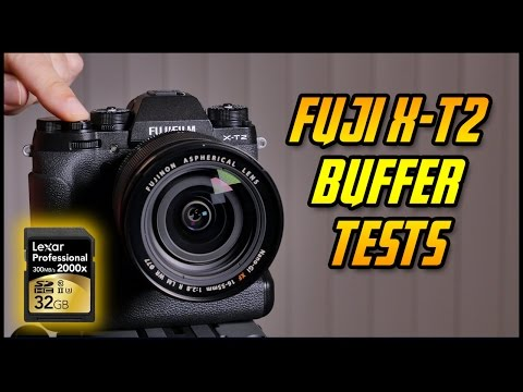 FUJI XT2 Buffer Performance UHSII Card Tests | Which Memory card to buy