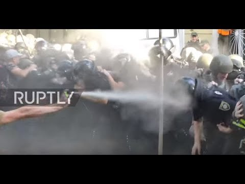 Ukraine: Protesters and police brawl after court acquits 5 defendants in Odessa Massacre case
