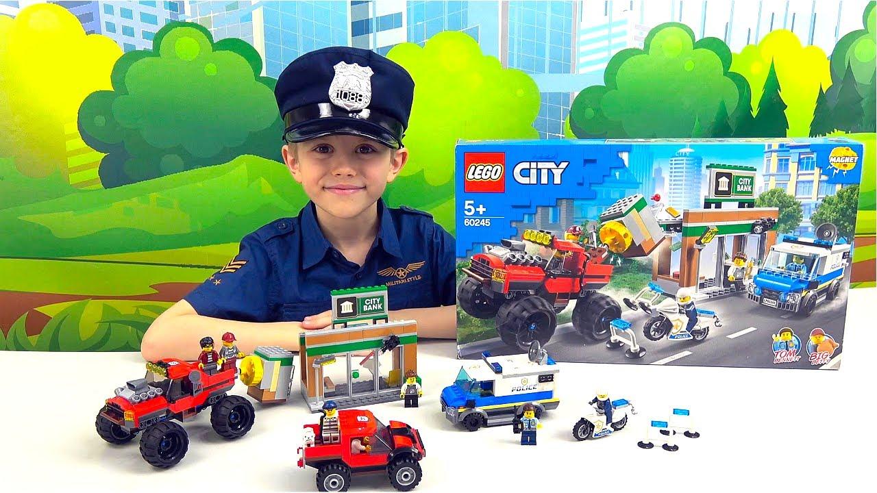 Полиция Лего Сити 60245 Новинка 2020 года - ОГРАБЛЕНИЕ БАНКА на Монстер Траке. Lego City 60245