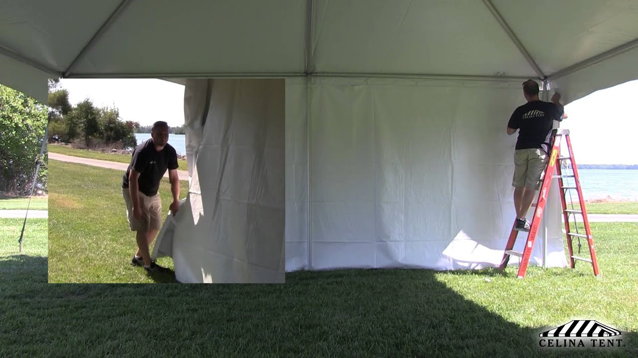 How to Roll Tent Sidewalls / Curtains & How to Roll Tent Sidewalls / Curtains - YouTube