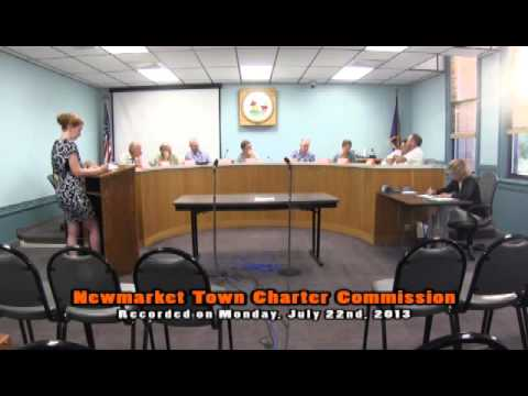 Town Charter Commission 07/22/2013 (Newmarket, New Hampshire)