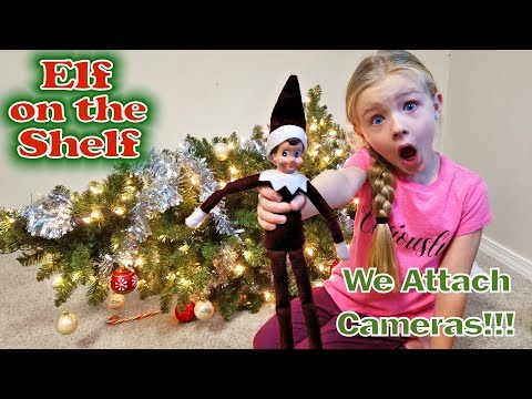 Evil Elf on the Shelf Caught Moving on Camera! We Attach Real Spy Cams to the Bad Elf!!!