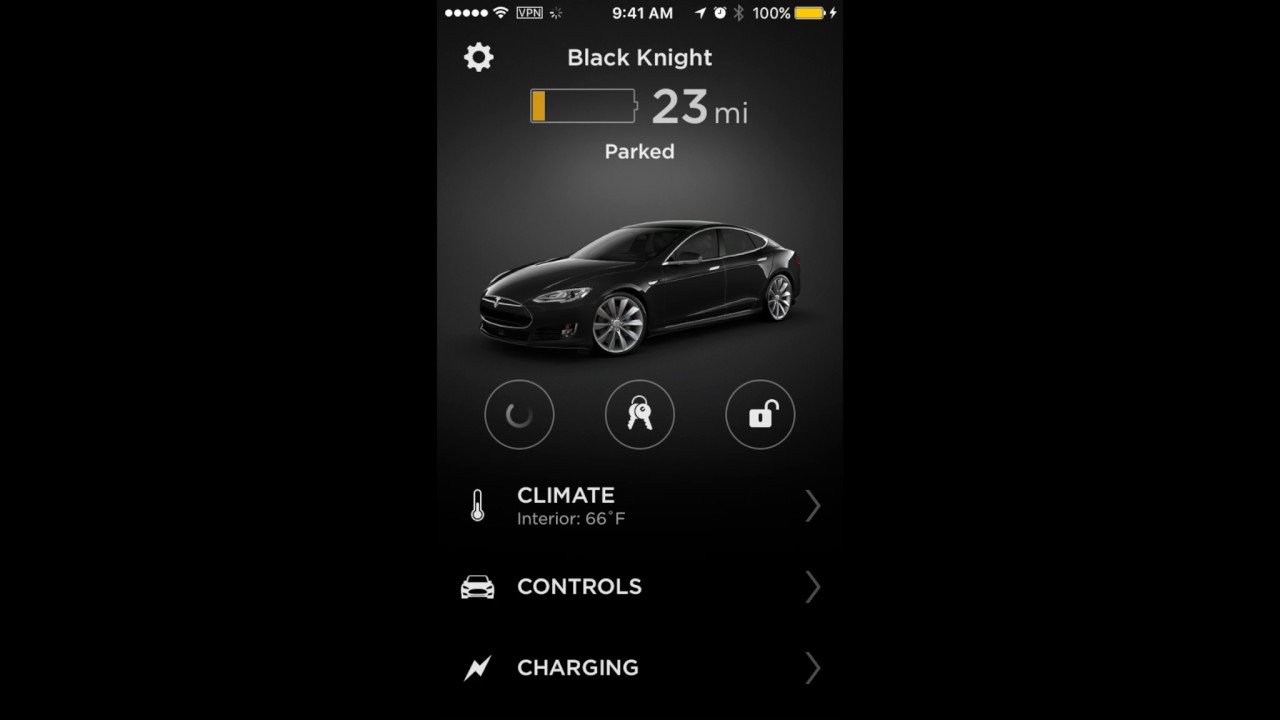 Tesla iphone integration