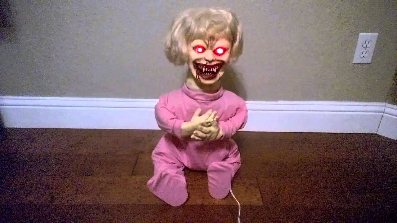 spirit halloween zombie baby agony ann animated halloween prop youtube