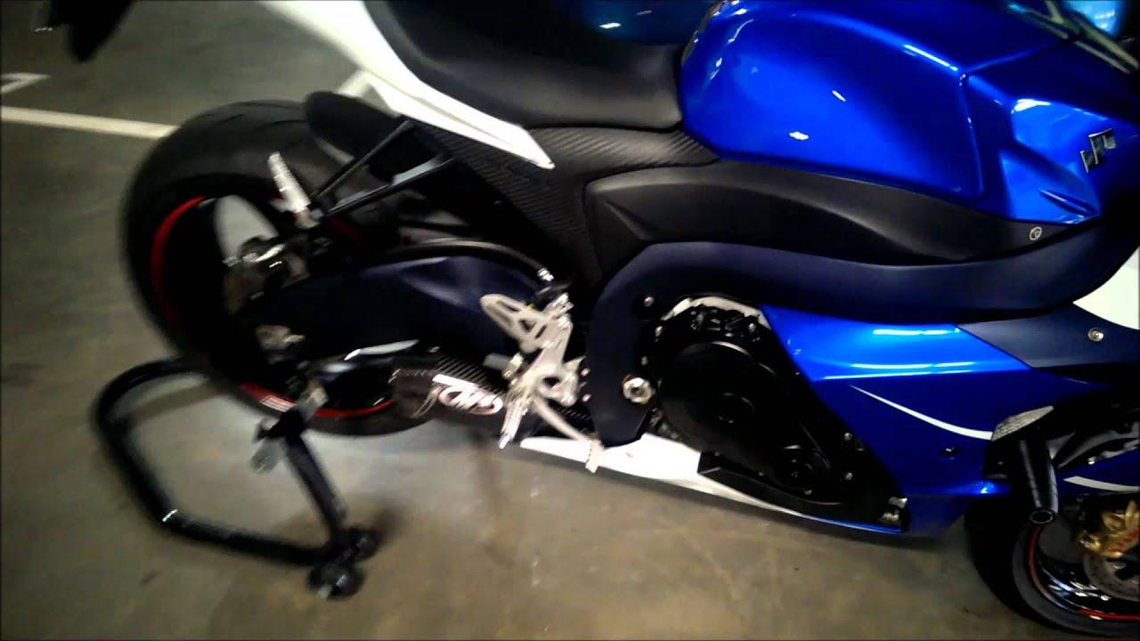 M4 street slayer full exhaust - 2013 suzuki gsxr 1000 - Blue white pt 2 - YouTube