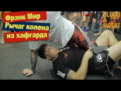 Фрэнк Мир. Рычаг колена из хафгарда Frank Mir. Kneebar from halfguard