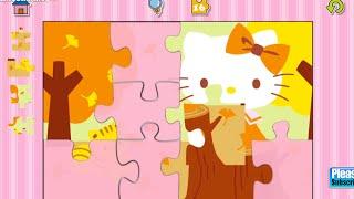 Hello Kitty Jigsaw Pużzles Educational Education Android İos Free Game GAMEPLAY VİDEO