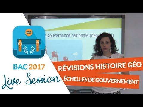 Bac 2017 - Révisions live Histoire Géo : Échelles de gouvernement / Cartes pour comprendre le monde