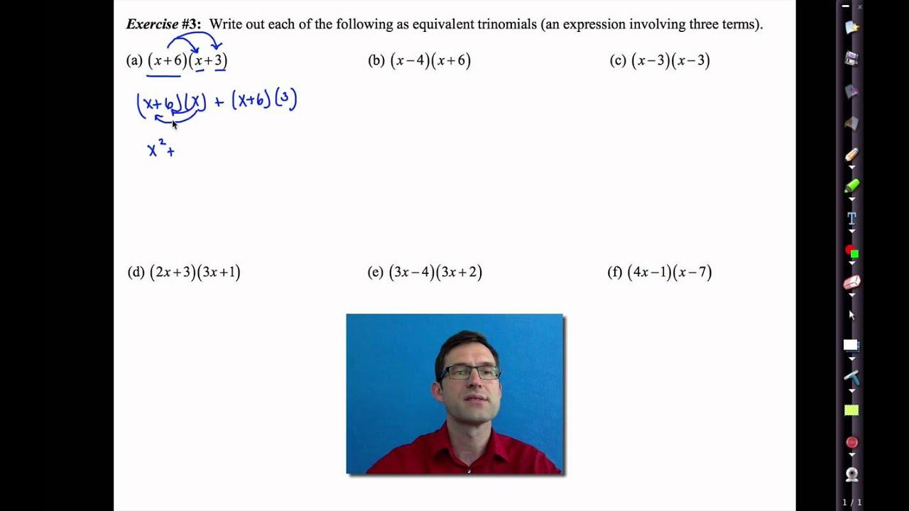 Common Core Algebra I Unit #1 Lesson #8 More Complex Equivalency