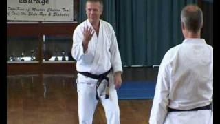 Tom Hill's Karate Dojo; Goju Kata Bunkai; Siafa & Shisochin; side-head Chancery
