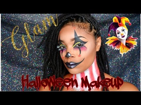 Glam Clown Halloween MakeUp